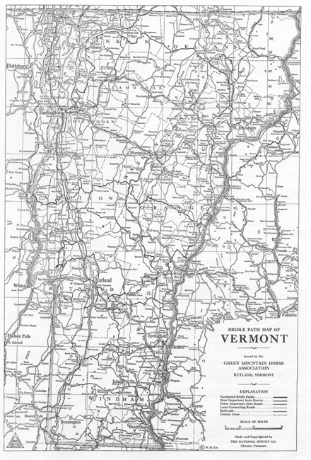 Historic map of the GMHA Trail System